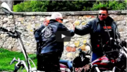 img: UNCS Bikers on Harley Davidson