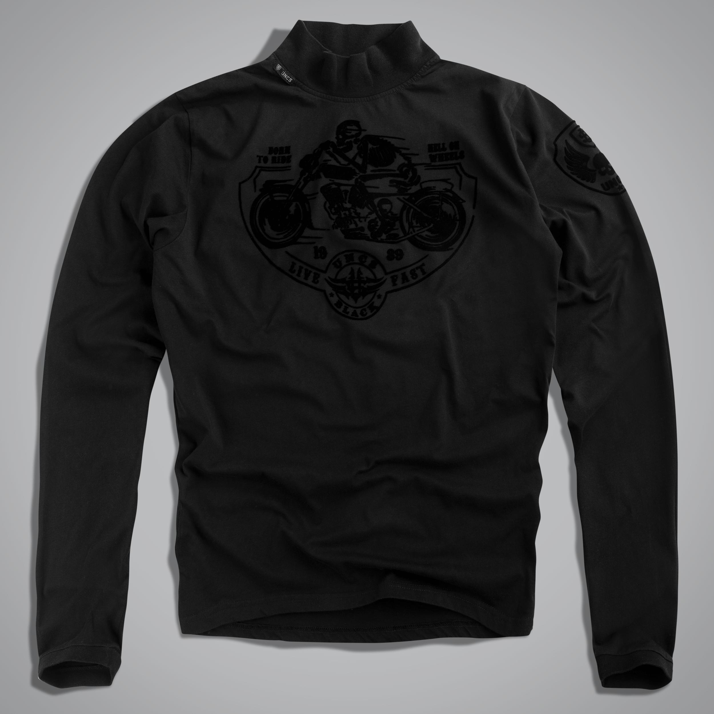 biker rollkragen shirt born to ride herren t shirts. Black Bedroom Furniture Sets. Home Design Ideas